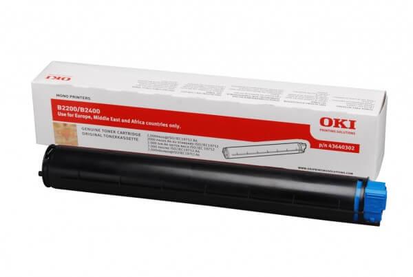 Original OKI Toner 43640302 black - Neu & OVP