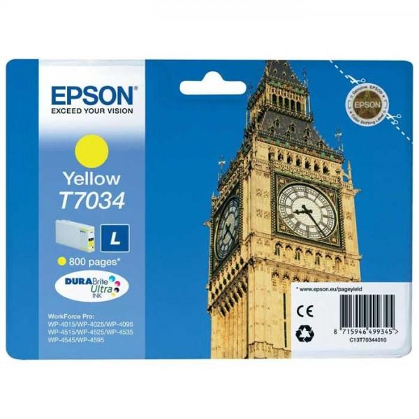 Original Epson T7034 Tinte yellow C13T70344010 - Neu & OVP