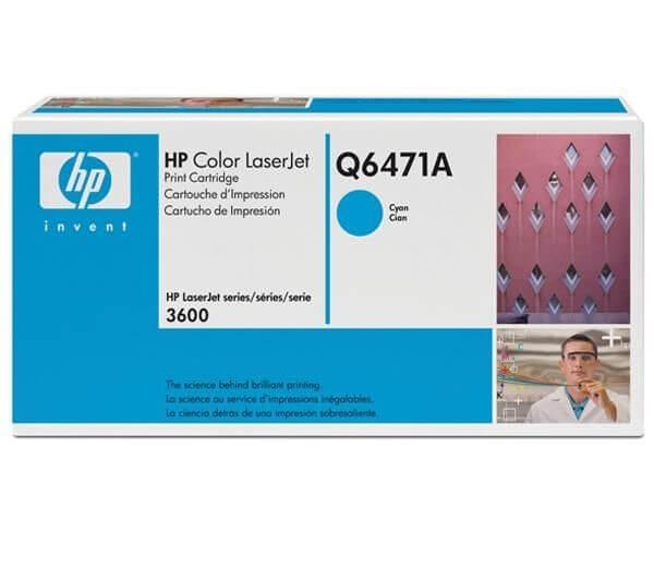 HP Color Laserjet Toner Q6471A cyan - reduziert