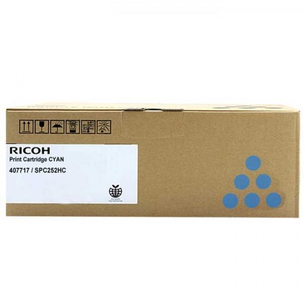 Original Ricoh SP C252 Toner 407717 cyan Neu & OVP
