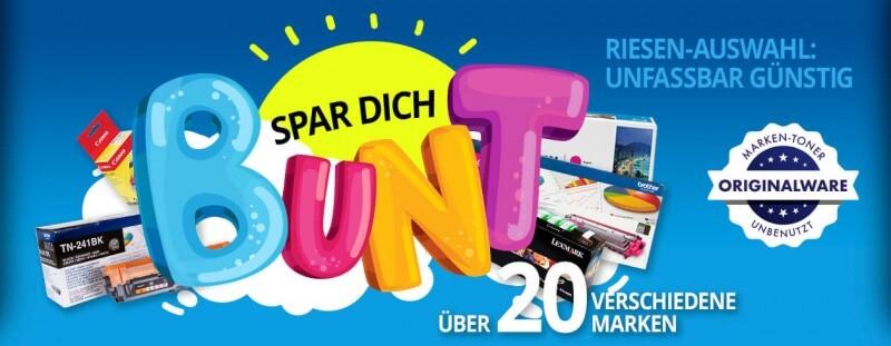 Spar dich bunt - Toner-Posten.de