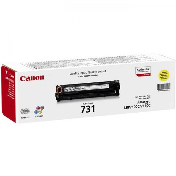Original Canon Toner 731Y Toner 6269B002 yellow - reduziert