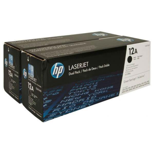 Original HP Laserjet Toner Q2612AD Doppelpack black - Neu & OVP