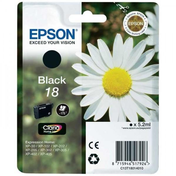 Epson 18 Tinte black C13T18014010
