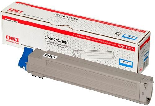 Original OKI Toner 42918915 cyan - reduziert