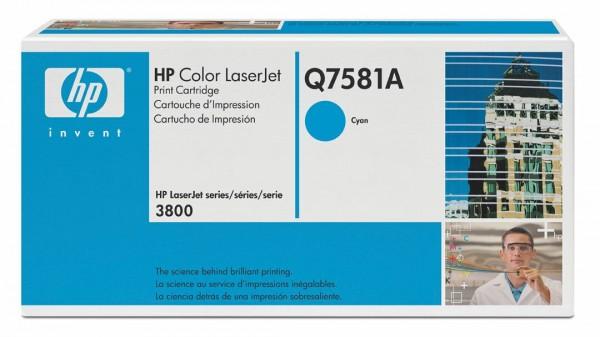 HP Color Laserjet Toner Q7581A cyan - reduziert