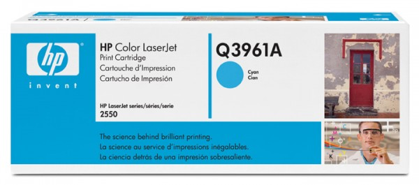 Original HP Color Laserjet Toner Q3961A cyan - reduziert
