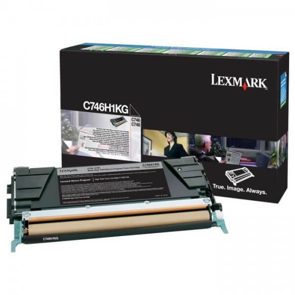 Original Lexmark Toner C746H1KG black - reduziert