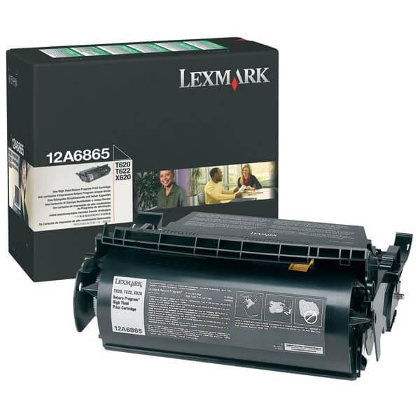 Original Lexmark Toner 12A6865 black - Neu & OVP