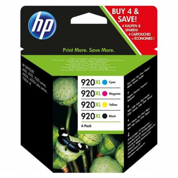 Original HP Nr. 920XL Multipack Tinten C2N92AE black, cyan, magenta, yellow - Neu & OVP
