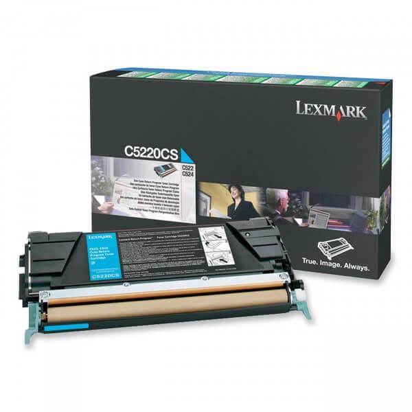 Original Lexmark Toner C5220CS cyan - reduziert