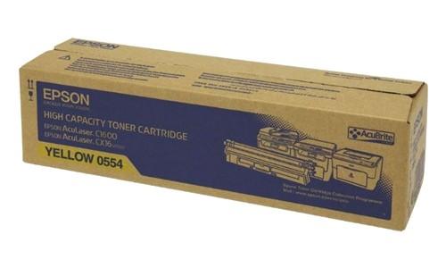 Original Epson AcuLaser Toner S050554 yellow - Neu & OVP