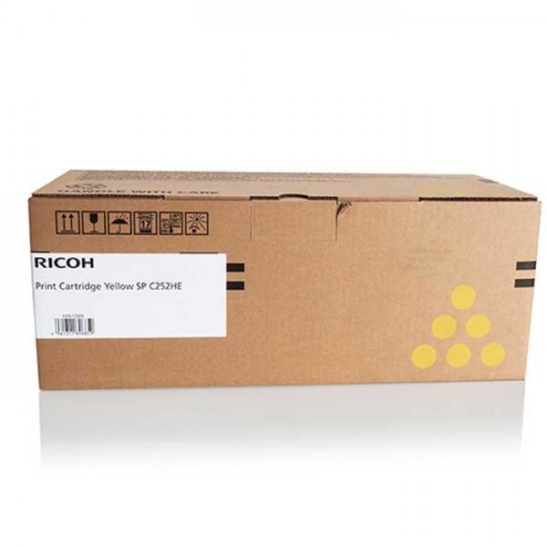 Original Ricoh SP C252 Toner 407719 yellow, reduziert