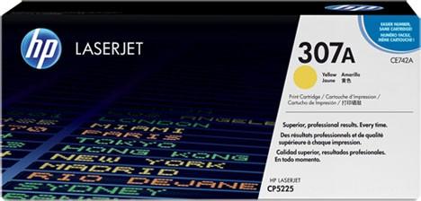 Original HP Laserjet Toner CE742A yellow - reduziert