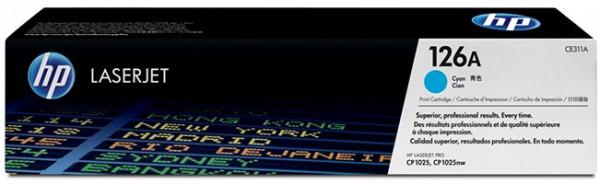 Original HP Laserjet Toner CE311A cyan - reduziert