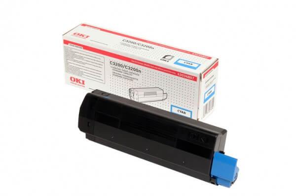 Original OKI Toner 43034807 cyan - reduziert