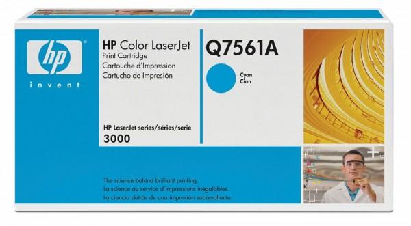 Original HP Color Laserjet Toner Q7561A cyan - reduziert