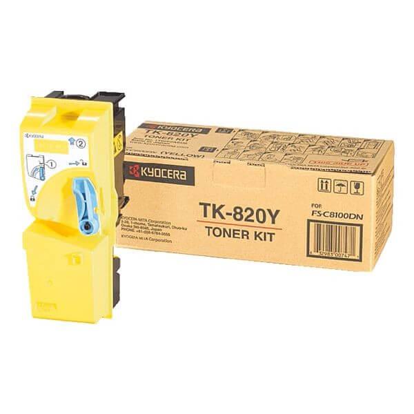Kyocera Toner TK-820Y yellow - reduziert