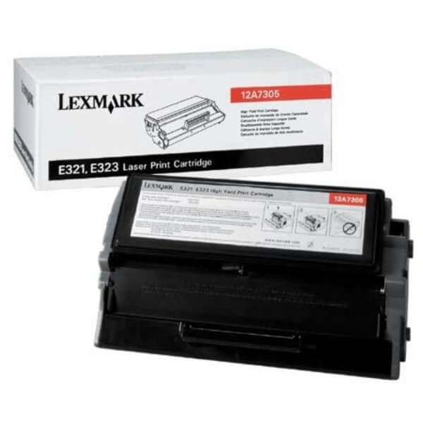 Original Lexmark Toner 12A7305 black - reduziert