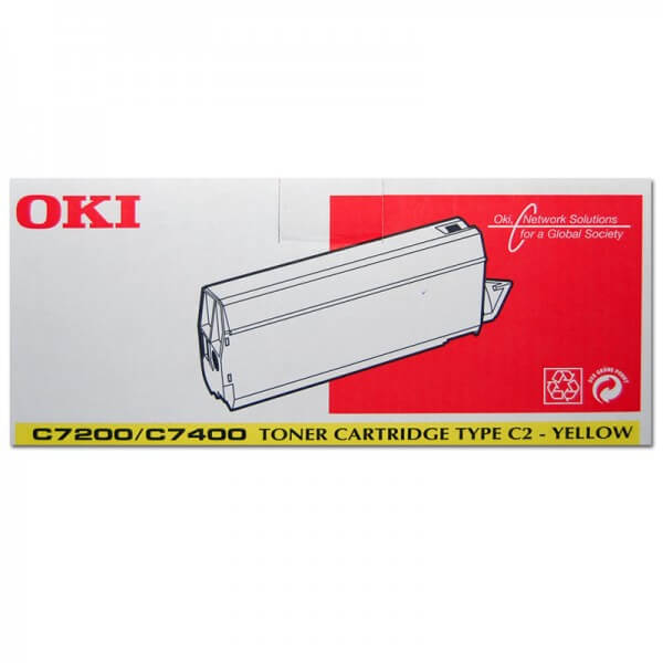 Original OKI Toner 41304209 Type C2 yellow - reduziert