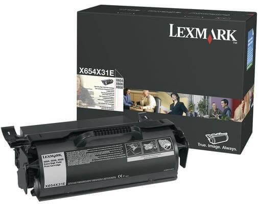 Lexmark Toner X654X31E black