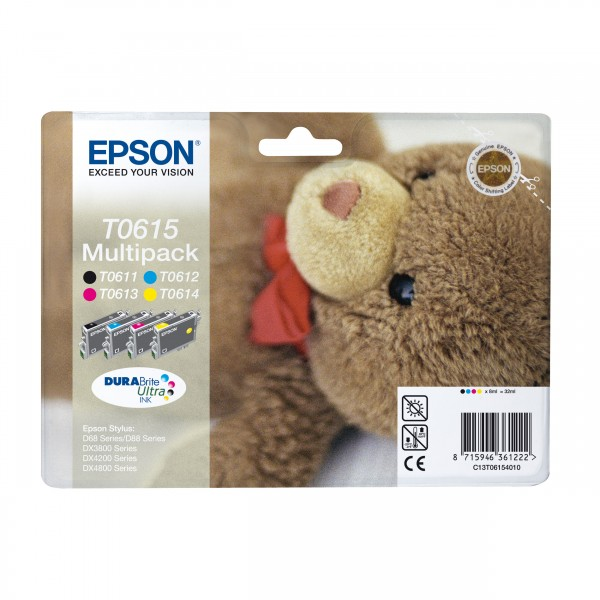 Epson T0615 Tinte C13T06154010 Multipack 4-farbig