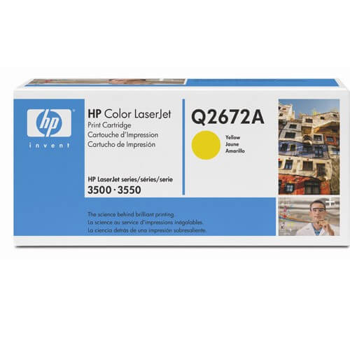 HP Color Laserjet Toner Q2672A yellow