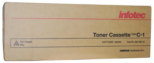 Original Infotec Type C1 Toner 88598455 black - reduziert