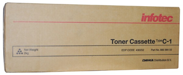 Infotec Type C1 Toner 88598455 black - reduziert