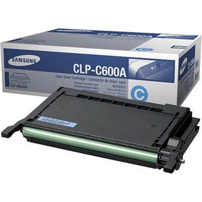 Original Samsung CLP Toner CLP-C600A cyan - Neu & OVP